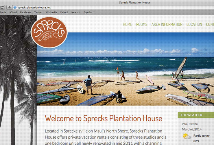 Sprecks Plantation House Website