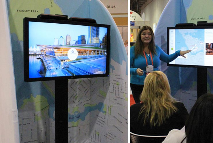 Tourism Vancouver Touch Screen