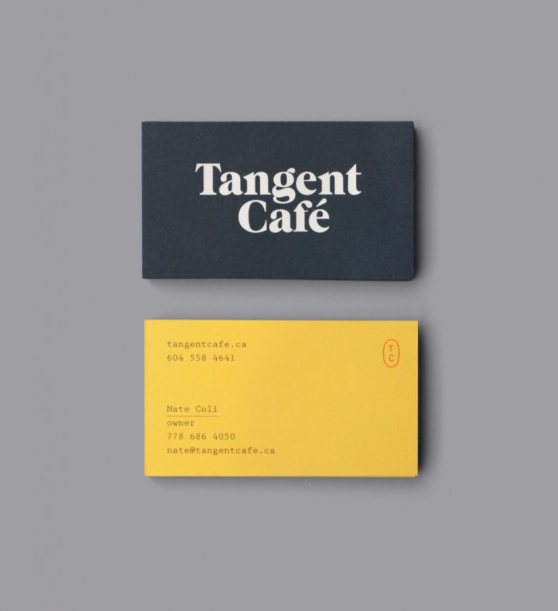 Tangent Cafe Business Cards