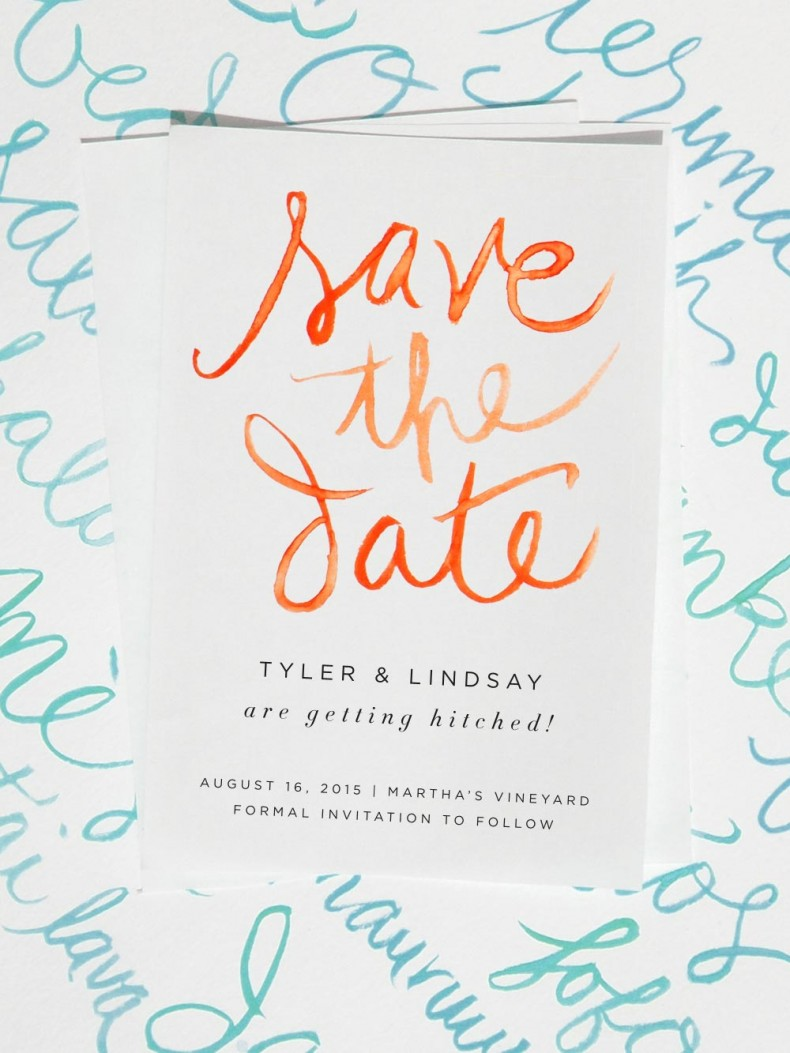 Save the Date Watercolor Cards