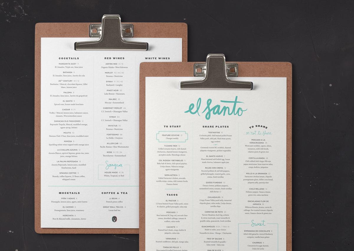el-santo-menu