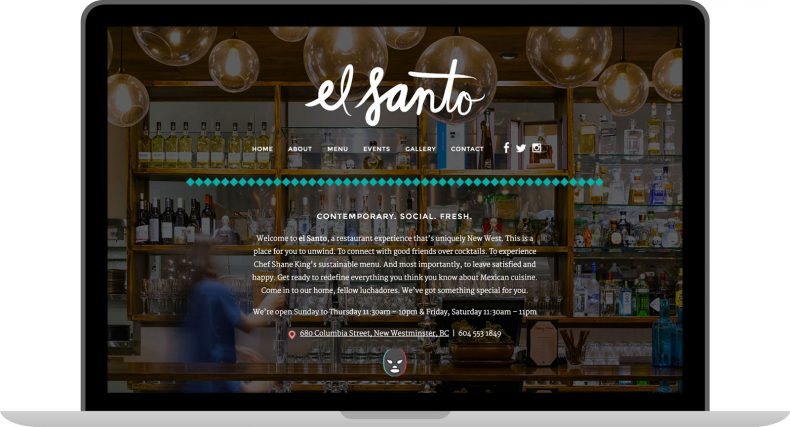 El Santo Branding & Website Design